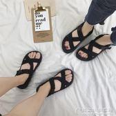 情侶涼鞋女夏女鞋平底海灘度假沙灘鞋港味風越南鞋子【概念3C旗艦店】