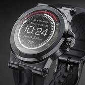 【台南 時代鐘錶 Michael Kors】穿戴式科技 Dylan 觸控式智慧型手錶 MKT5011 黑鋼/橡膠 46mm