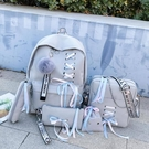後背包 古著感森系書包ins雙肩包女2021新款韓版大容量高中學生背包bf風 交換禮物
