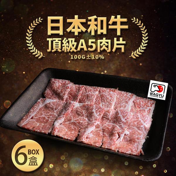 【屏聚美食】日本A5和牛燒烤片6盒組(100g/盒)免運組