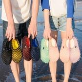 夏季鳥巢拖鞋女洞洞鞋女沙灘鞋瑪麗珍涼拖鞋沙灘拖鞋女海邊防滑鞋