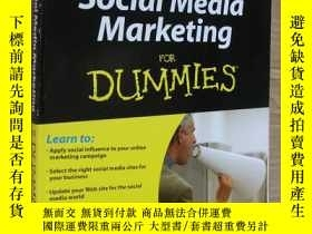 二手書博民逛書店Social罕見Media Marketing for Dumm