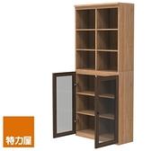 組 -特力屋萊特 組合式書櫃 淺木櫃/淺木層板8入/深玻門2入 78x30x174.2cm