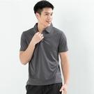 男款排汗POLO衫  CoolMax 吸濕快乾 機能涼感 舒適運動 灰色