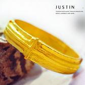 Justin金緻品 黃金男戒指 十字守護 金飾 9999純金男戒指 可當尾戒 金戒子 十字架