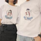 情侶裝 不一樣的情侶裝夏裝ins超火男女士班服短袖T恤2020新款韓版半袖潮