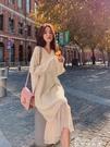 連身裙 春秋款針織小香風減齡打底長裙2020年新款女裝長袖連衣裙子秋冬季 麥琪精品屋