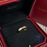 BRAND楓月 Cartier 卡地亞 K18 LOVE 鑲鑽 單鑽戒 戒指 飾品 配件 #48