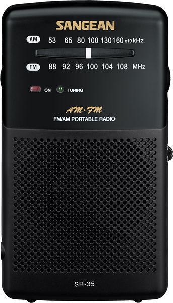 ^聖家^SANGEAN山進二波段調頻 / 調幅 掌上型收音機 SR-35【全館刷卡分期+免運費】