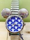 【震撼精品百貨】米奇/米妮_Micky Mouse~日本迪士尼米奇造型鐵錶/手錶-大頭藍#10500