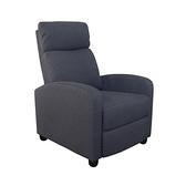 【JUSTBUY】巴斯克可調式單人沙發躺椅(4色任選)亞麻灰