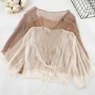 披肩 配吊帶裙子很仙的雪紡防曬衣開衫女夏季新薄款小外套外搭披肩-Ballet朵朵