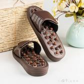 按摩拖鞋磁石旋轉彈灸足底穴位新鵝卵石居家室內男女浴室按摩鞋 小確幸生活館