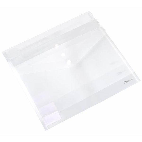 [超豐國際]得力5505文件夾學生文具試卷收納資料袋塑料透明A4按扣票據