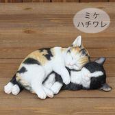 《齊洛瓦鄉村風雜貨》日本zakka雜貨 貓咪系列 擺飾 動物模型 貓咪們睡覺 可愛小貓咪裝飾