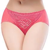 思薇爾-戀戀玫瑰系列蕾絲中腰三角褲(彩漾粉)