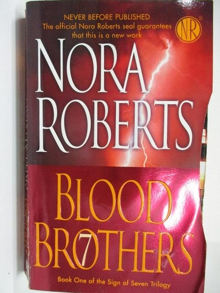【書寶二手書T5/原文小說_AAK】Blood Brothers_Nora Roberts