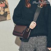 斜背包包包女2019新款韓版簡約百搭斜背包時尚復古寬肩帶網紅小黑包 【驚喜價格】