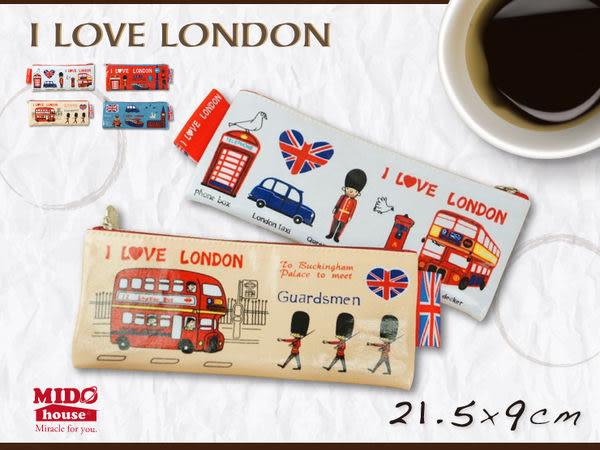 飛躍倫敦帆布寬型筆袋(4款)SV12-171《Midohouse》