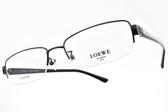 LOEWE 光學眼鏡 VLW365K 530 (黑) 紳士品格半框款 鈦框 # 金橘眼鏡