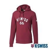 K-SWISS KS 66 Hoodie連帽上衣-男-酒紅