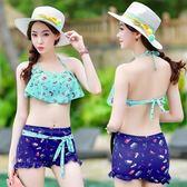 泳衣(兩件式)-比基尼-韓版時尚俏皮可愛女泳裝-2色73mb11[時尚巴黎]