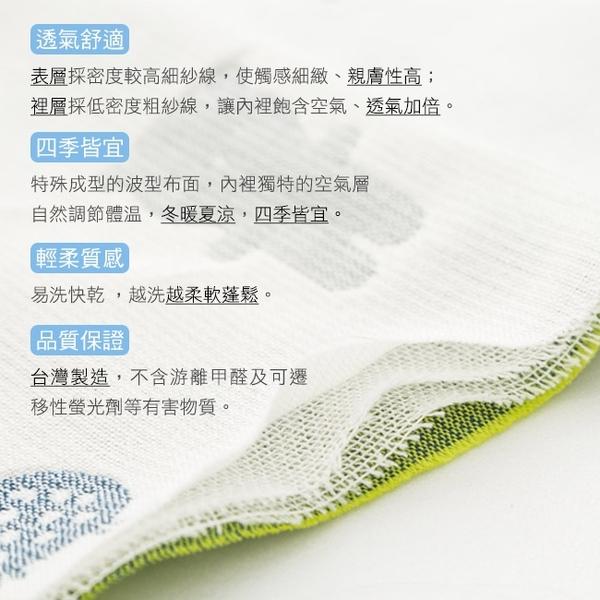 【奇哥】森林家族四層紗浴巾/包巾-粉藍