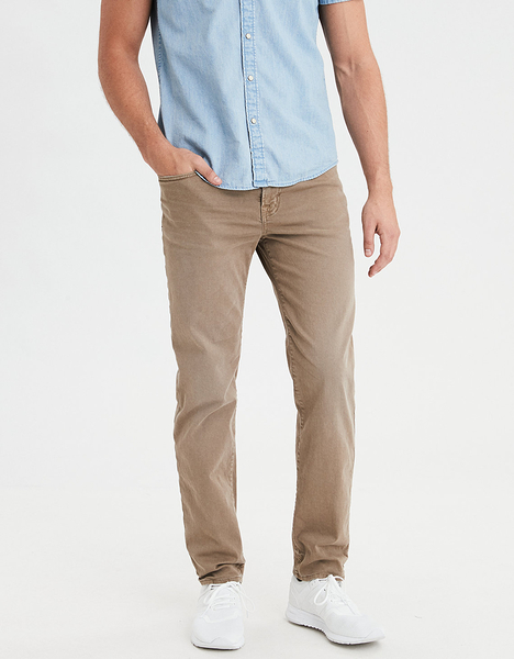 (BJGO) AMERICAN EAGLE_男裝_AE FLEX ORIGINAL STRAIGHT JEAN美國老鷹舒適直筒牛仔褲 最新代購