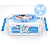 【奇買親子購物網】貝恩Baan NEW嬰兒保養柔濕巾80抽24入/箱+Nac Nac點點紗布口水巾 (顏色隨機)