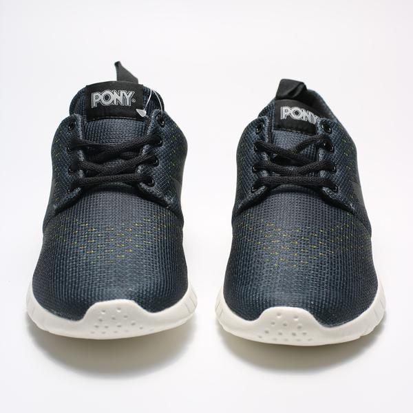 PONY 限定版編織輕量跑鞋 黑彩 女 (布魯克林) 71W1HO91BK