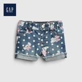 Gap女幼Gap x Disney迪士尼系列做舊水洗印花牛仔短褲542907-米妮老鼠圖案