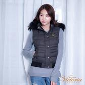 Victoria 仿毛呢絲棉背心-深灰-V4514586