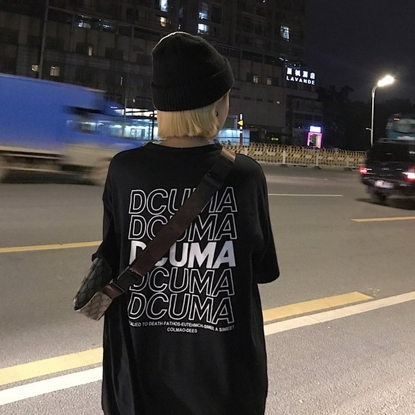 FINDSENSE G6 正韓T恤 寬鬆春夏中長款百搭女t-shirt2019女