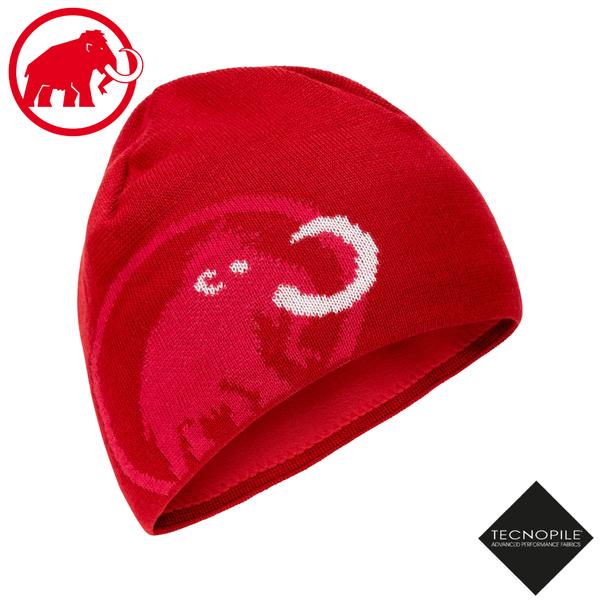 【MAMMUT 長毛象 Tweak Beanie 雙層針織保暖羊毛帽《速克達/火龍果》】1191-01352/毛線帽/禦寒帽