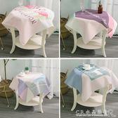北歐簡約棉麻餐桌布正方形圓形桌布方桌茶幾小臺布方巾床頭柜蓋布『CR水晶鞋坊』