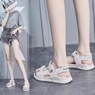 夏季涼鞋女2021年新款仙女風時尚網紅ins軟底真皮休閒運動平底鞋 果果輕時尚