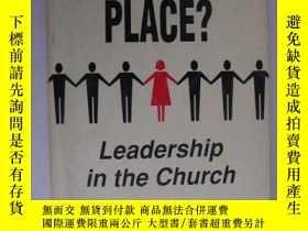 二手書博民逛書店A罕見WOMAN S PLACE? Leadership in