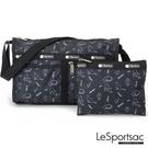 LeSportsac - Standard 雙口袋斜背包-附化妝包 (黑貓與鳥) 7519P E425