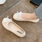 豆豆鞋蝴蝶結豆豆鞋2020年夏季新款流行女鞋軟底百搭平底單鞋溫柔淑女鞋 JUST M