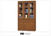 【MK億騰傢俱】BS249-03柚木色4尺書櫥組