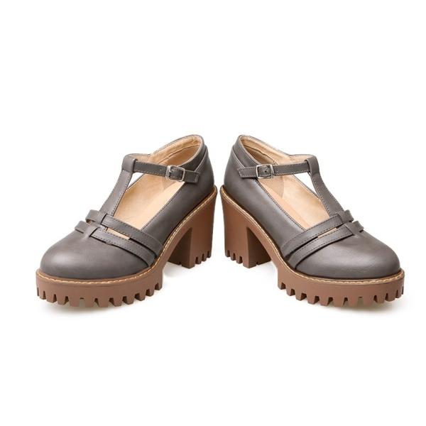 大尺碼女鞋34-43►英倫甜美學院風丁字高跟瑪麗珍鞋~4色