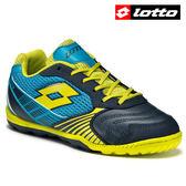 【LOTTO】VIENTO II 500 義大利進口專業五人制兒童室內足球鞋 - 藍黃