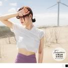 《KS0861-》台灣製造.吸濕排汗短袖短版上衣 OB嚴選
