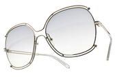 Chloe 太陽眼鏡 CE129S 734 (銀-漸層藍鏡片) 雙邊造型款 墨鏡 # 金橘眼鏡