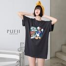 限量現貨◆PUFII-上衣 仿舊卡通印圖上衣T恤- 0330 現+預 春【CP19914】