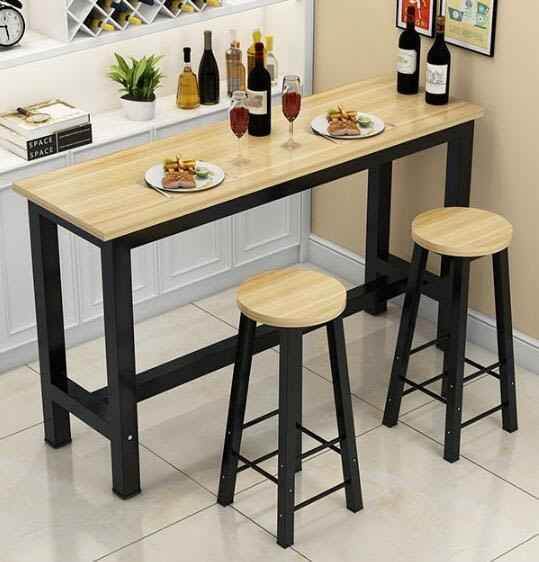 靠牆吧台桌家用客廳吧台桌簡易吧台桌簡約酒吧桌高腳桌咖啡桌ATF 格蘭小舖