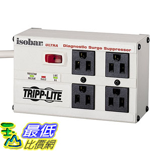 [美國直購] Tripp Lite ISOBAR4ULTRA 插座 Isobar 4 Outlet Surge Protector Power Strip 6ft Cord Right Angle Plug 3330 Joules