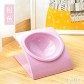 寵物食盤 貓碗狗碗貓盆貓食盆斜面斜口單碗貓糧飯碗水碗寵物 nm10829【甜心小妮童裝】