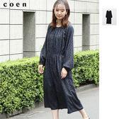 長洋裝 圓點 細褶  日本品牌【coen】