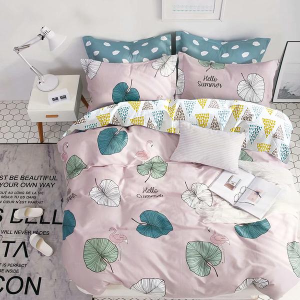 Artis台灣製 - 雙人床包組+雙人薄被套 蝶飛四季  雪紡棉磨毛加工處理 親膚柔軟